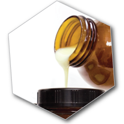 Royal jelly is a complex biological product secreted by the swallow and supramaxillar glands of young bees aged 5 to 15 days